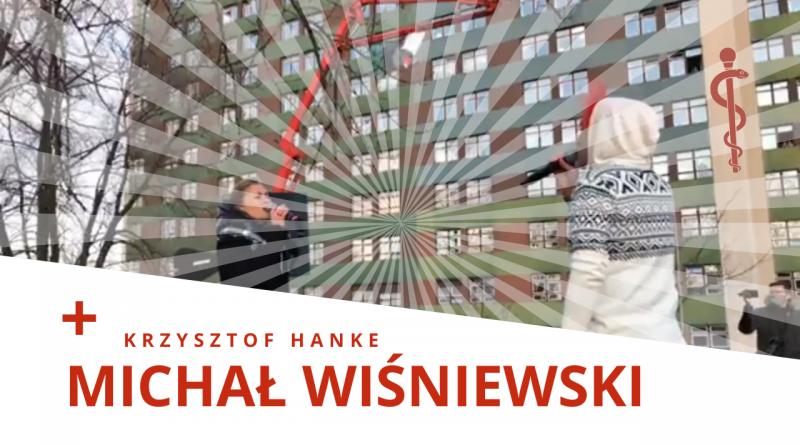 Michał Wiśniewski & Krzysztof Hanke koncert przed szpitalem