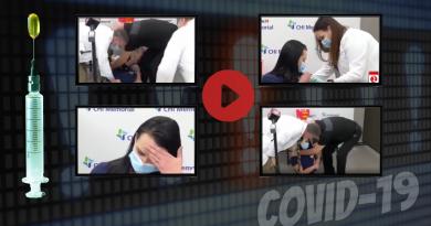 Pielęgniarka mdleje przed kamerami po zaszczepieniu na COVID-19!