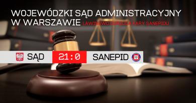 SĄD administracyjny odwołuje lawinowo decyzje SANEPIDU! Wszystkie działania rządu są nielegalne!