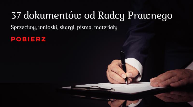 Wnioski, skargi, sprzeciwy, pisma COVID od Radcy Prawnego